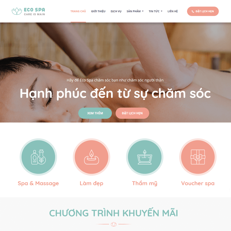 Web mẫu spa , thẩm mỹ