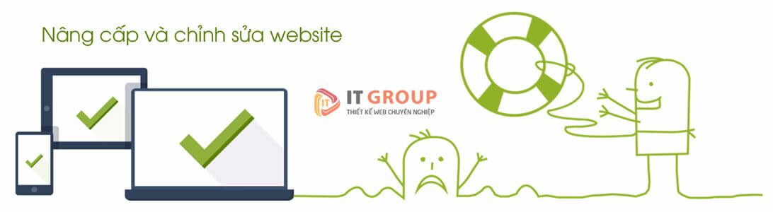 Dịch vụ nâng cấp & chỉnh sửa web