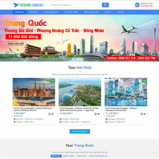 Mẫu web du lịch