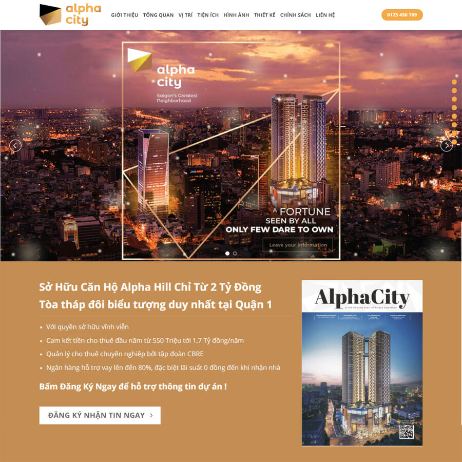 Alpha City - Landing Page BDS