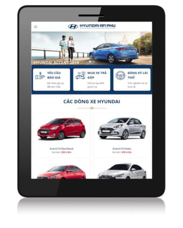 Mẫu web bán xe oto
