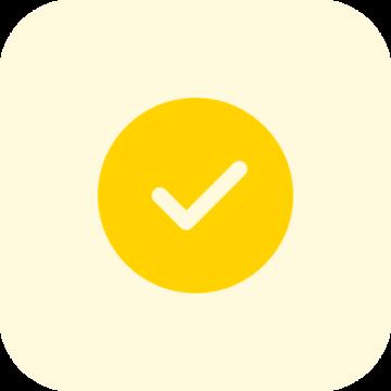 check yellow